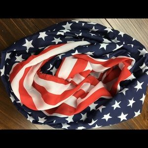 Stars & Stripes infinity scarf NEW Red, White,Blue